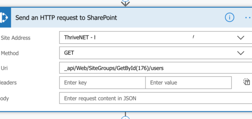 SharePoint HTTP Configuration
